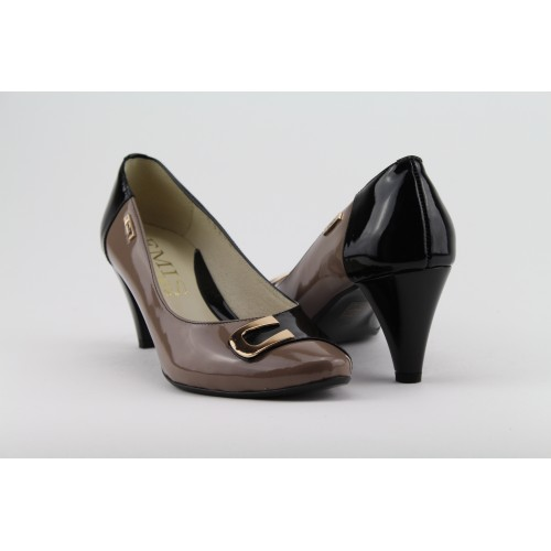 EMIS sötétbarna magassarkú cipő cb0762b2d1