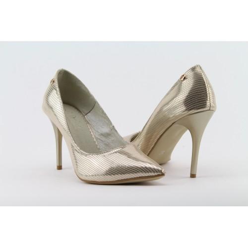 WOLSKI ezüst színű tűsarkú cipő 9f00d77e92