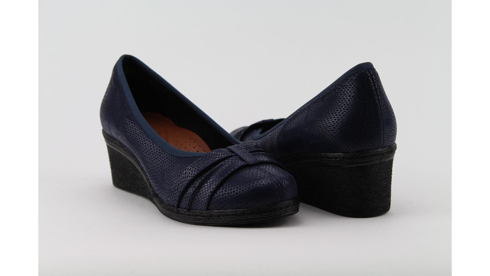 BIOBUT Kék telitalpú női cipő f8ebfec588