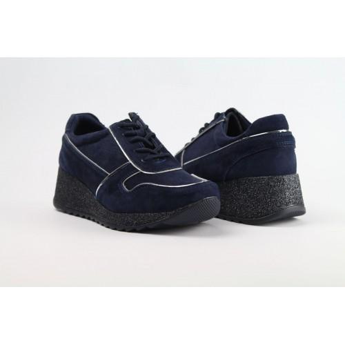 FILIPPO kék női bőr sneaker