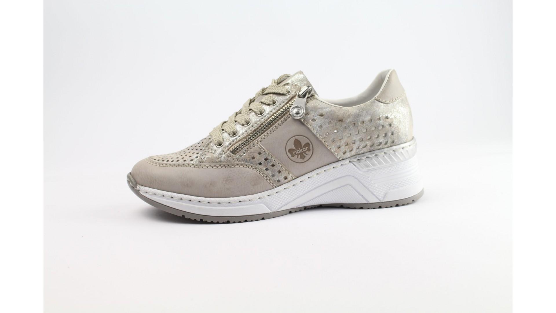 RIEKER bézs női sneaker cipő